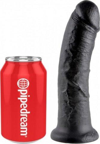 Фаллоимитатор на присоске черный King Cock 8, фото 3
