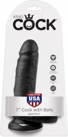 Cock 7 inch w/ balls black, ���� 2