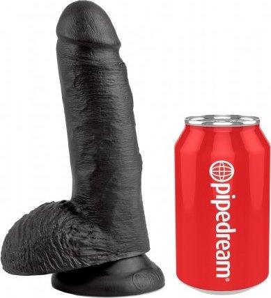 Cock 7 inch w/ balls black, ���� 3