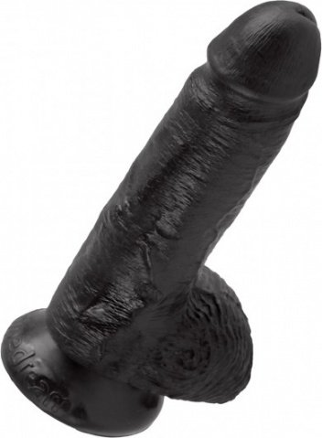 Фаллоимитатор на присоске King Cock 7 Cock with Balls - Black 19 см, фото 4
