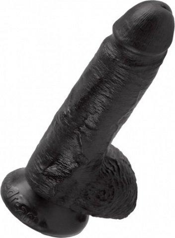 Cock 7 inch w/ balls black, ���� 4