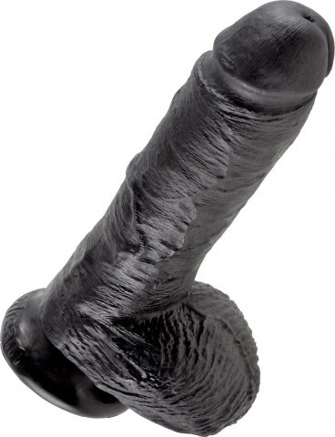Cock 8 inch w/ balls black