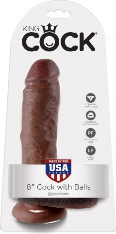 Cock 8 inch w/ balls brown, ���� 2