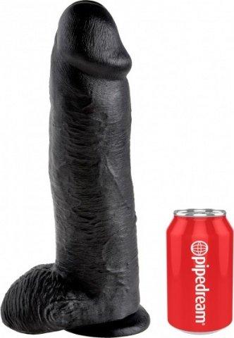 Cock 12 inch w/ balls black, фото 3