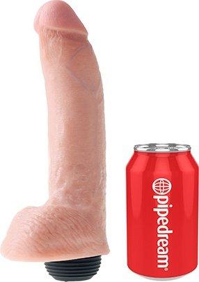 Фаллоимитатор 9 Squirting Cock with Balls с эффектом семяизвержения телесный 22 см, фото 6