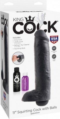 Squirting Cock w_Balls Фаллоимитатор реалистик с семяизвержением, фото 2