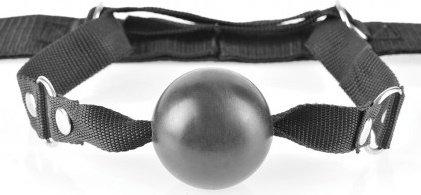 Fantasy Bed Restraint System фиксация с металлическими наручниками и кляпом