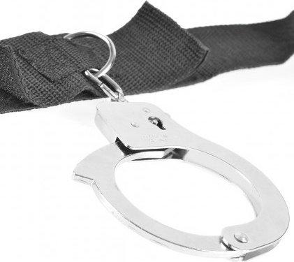 Fantasy Bed Restraint System фиксация с металлическими наручниками и кляпом, фото 4