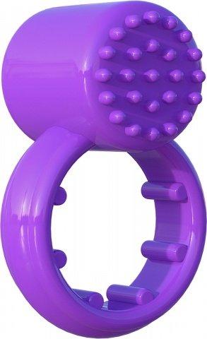 Эрекционное кольцо Sensual Touch Love Ring фиолетовое с вибрацией