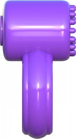 Эрекционное кольцо Sensual Touch Love Ring фиолетовое с вибрацией, фото 5