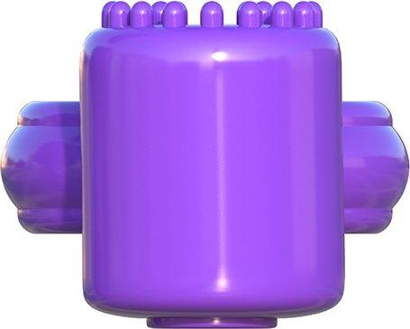 Эрекционное кольцо Sensual Touch Love Ring фиолетовое с вибрацией, фото 6