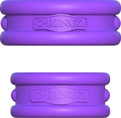 Набор из 2-х эрекцонных колец Max Width Silicone Rings фиолетовые, фото 2