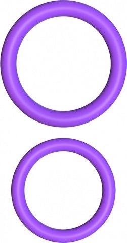 Набор из 2-х эрекцонных колец Max Width Silicone Rings фиолетовые, фото 3