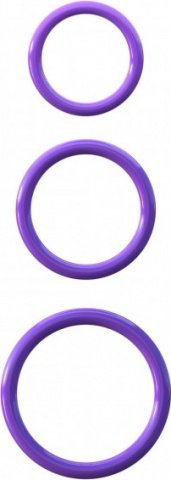 Набор из 3-х эрекционных колец Silicone 3-Ring Stamina Set фиолетовые