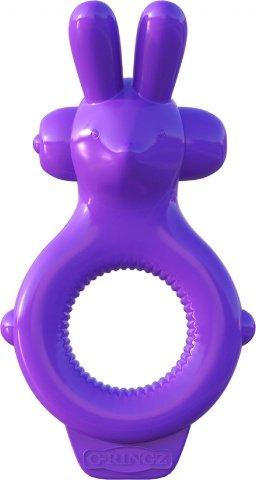 Эрекционное кольцо Ultimate Rabbit Ring фиолетовое с вибрацией