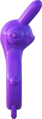 Эрекционное кольцо Ultimate Rabbit Ring фиолетовое с вибрацией, фото 5