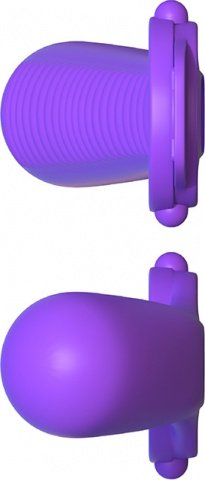 Эрекционное кольцо Ride N' Glide Couples Ring фиолетовое с вибрацией, фото 5