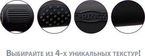 Эрекционное кольцо Magic Touch Couples Ring с 2-мя виброэлементами черное, фото 4