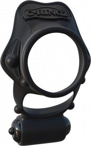 Rock hard vibrating ring black