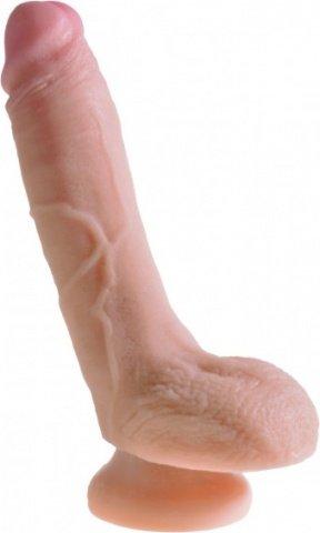 Фаллоимитатор с мошонкой King Cock + Dual Density 8 Cock - Flesh телесный 18 см, фото 3