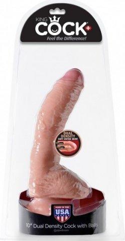 Огромный реалистичный фаллос на присоске 10'' Dual Density Cock with Balls 20 см, фото 2