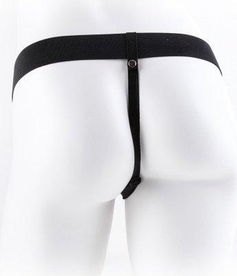 Hollow strap-on w balls 11'' black, ���� 4