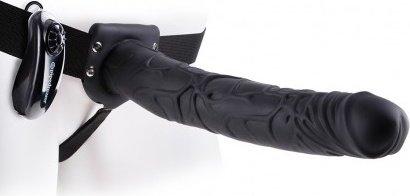 Vibr strap-on w balls 11'' black