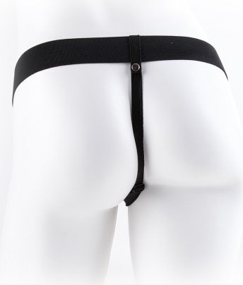 Vibr strap-on w balls 11'' black, ���� 5