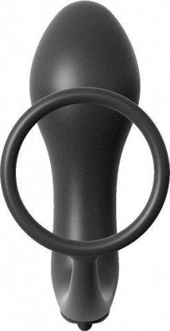 Ass-Gasm Cockring Vibrating Plug Анальная пробка с вибрацией с эрекционным кольцом, фото 3