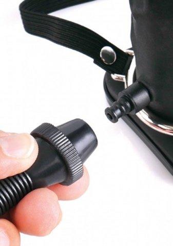 Inflatable Vibrating Hollow Silicone Strap-On Страпон полый с увеличением и вибрацией 10 см, фото 3