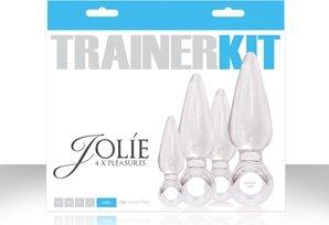 Набор анальных пробок Jolie *4 Trainer Kit прозрачные, фото 2