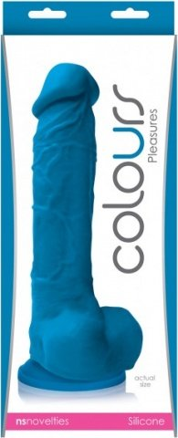Colours pleasure dildo 8inch blue, фото 2