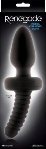 Анальный вибростимулятор Rebel Vibrating Wand - NS Novelties, 22 см., цвет Черный, фото 2
