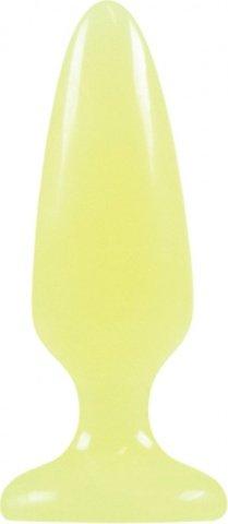 Анальная пробка средняя Firefly Pleasure Plug - Medium -Yellow, фото 3