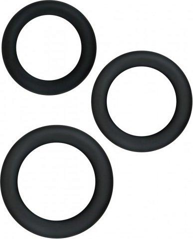 Набор эрекционных колец Renegade - Diversity Rings - Black