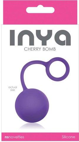 Вагинальный шарик inya - cherry bomb - purple, фото 2