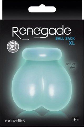 Мешочек для охлаждения или разогрева мошонки Renegade - Ball Sack XL - Glow, фото 2