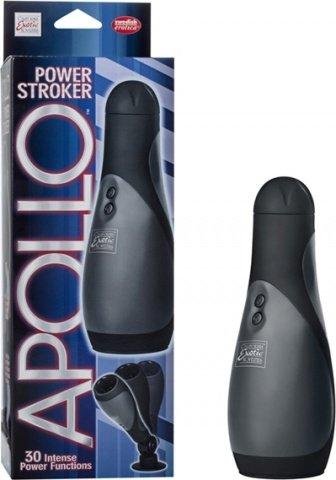 Мастурбатор с вибрацией apollo power stroker-blk, фото 3