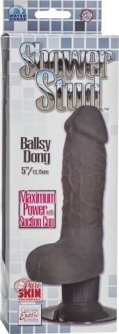 вибратор shower stud ballsy dong black 0840-10bxse 21 см, фото 2