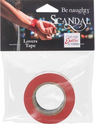 Скотч - лента красная (2,5 см ширина, 15 м длина) Scandal Lovers Tape - Red, фото 2
