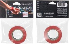 Скотч - лента красная (2,5 см ширина, 15 м длина) Scandal Lovers Tape - Red, фото 3