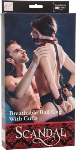 Кляп с наручниками scandal brthble bll gag w/cffs, фото 2