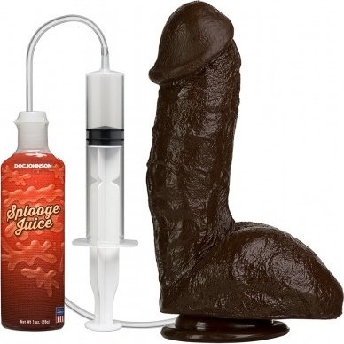 Squirting realistic cock black