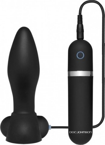 Platinum touch vibr butt plug black
