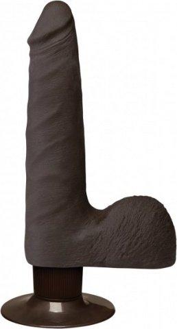 Realistic cock slim vibr 7'' black