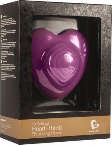 Стильный вибромассажер Heart Throp - Rocks-Off, цвет Фиолетовый, фото 2