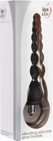 Vibrating silicone anal beads black, фото 2