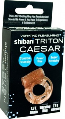 Vibrating pleasu ring caesar peach, фото 2