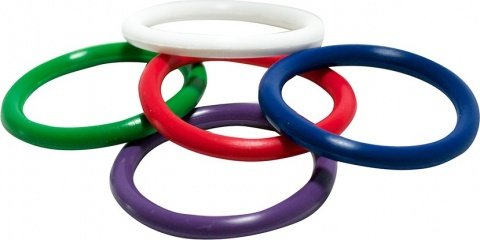 Triton rainbow rubber pleasu-rings