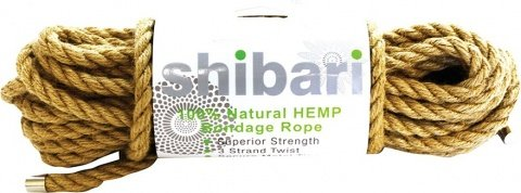 Natural hemp bondage rope 10m